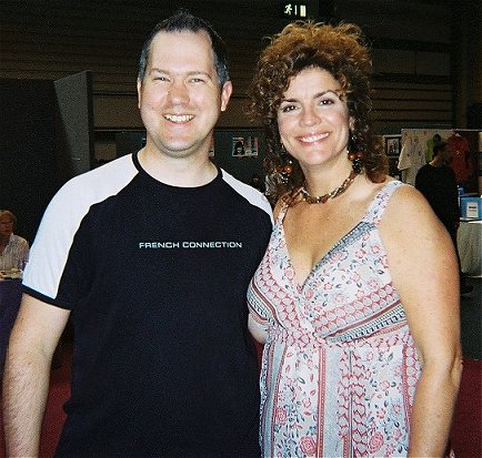 Ady with Robin Curtis - Saavik - at the NEC Birmingham, August 2006.