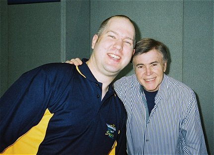 Adrian with Walter Koenig - Captain Pavel Chekov - at Collectormania 12, Milton Keynes 27/10/07.
