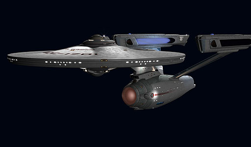 U.S.S. Enterprise post-refit as rendered in C.G.I. by Foundation Imaging.