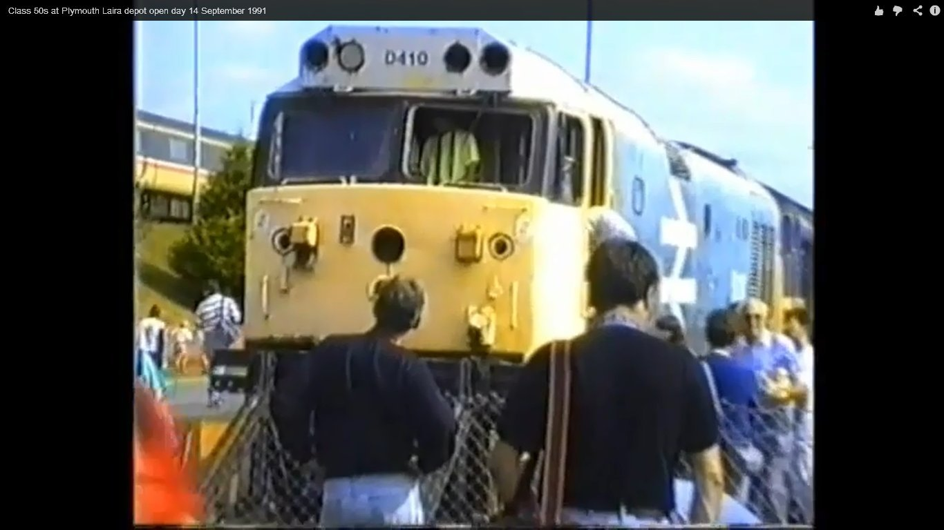 Laira open day September 1992 with me in the cab and my late Father clearly visible.