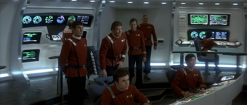 Bridge of the USS Enterprise-A, identical to Potemkin's bridge post-stardate 9741 refit.