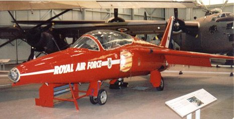 Folland Gnat Red Arrow, RAF Cosford 2001. Image dedicated to my father.