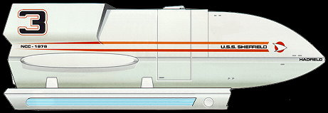 Federation Galileo class shuttlecraft Hadfield. Mappin and Sharman are also variants of this type of shuttle.