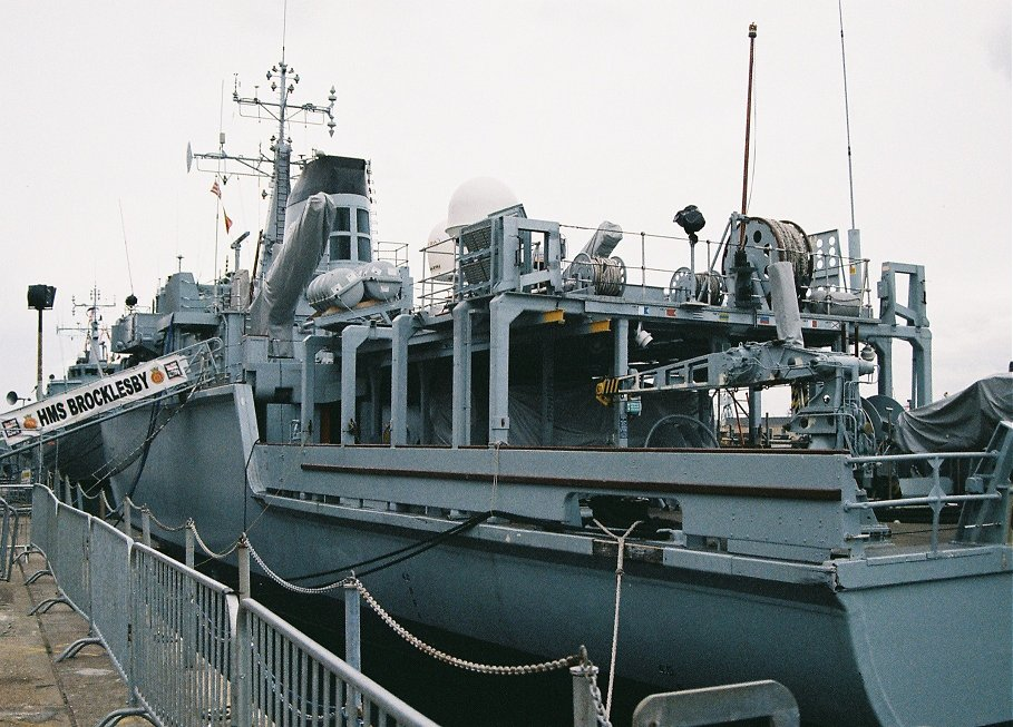 Hunt class mine hunter HMS Brocklesby M33, Portsmouth 2010.