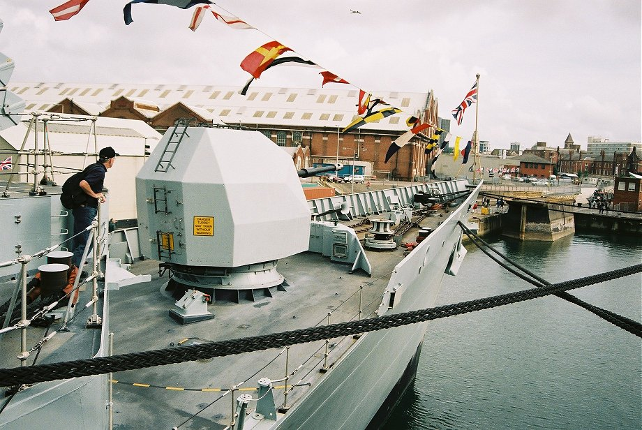 HMS Cumberland, Type 22 batch 3 at Portsmouth International Festival of the Sea, Trafalgar 200, 2005.