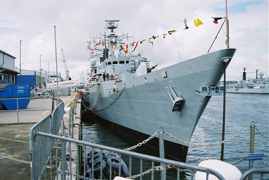 HMS Cumberland, Type 22 batch 3 at Plymouth Navy Days 2006.
