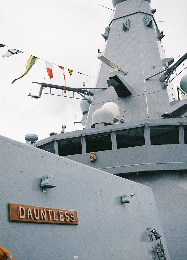 Type 45 destroyer H.M.S. Dauntless at Portsmouth Navy Days 2010