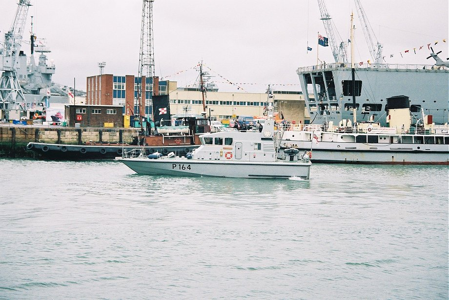 Explorer class coastal training patrol craft H.M.S. Explorer at Portsmouth Navy Days 2005