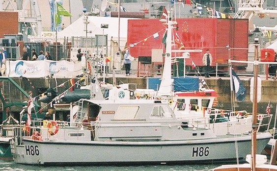 Survey ship HMS Gleaner at Portsmouth Navy Days 2005