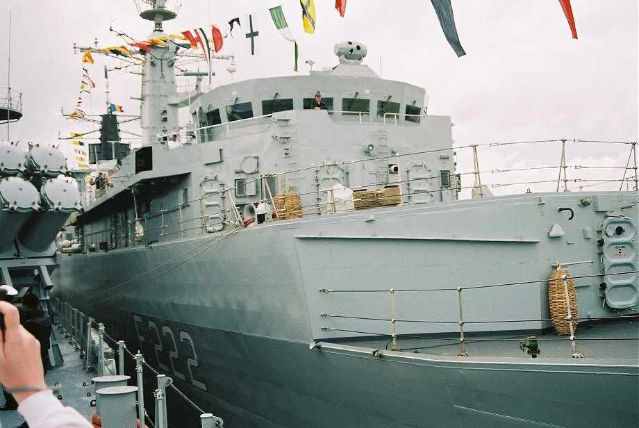 Romanian frigate Regina Maria, ex-HMS London, Type 22 batch 2 at Portsmouth Navy Days 2005.