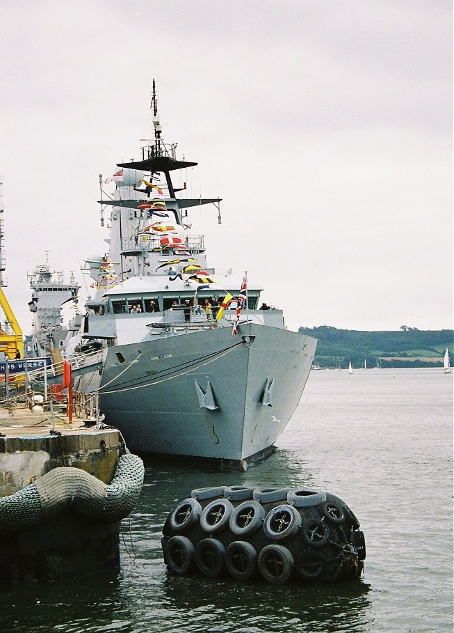 River class offshore patrol vessel H.M.S. Mersey at Devonport Navy Days 2009