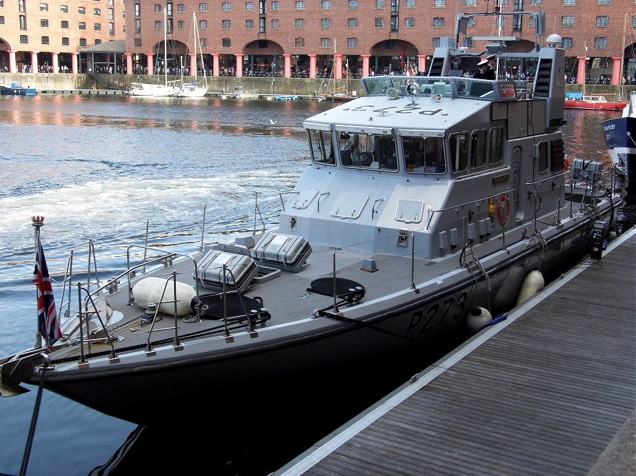 Explorer class coastal training patrol craft H.M.S. Pursuer at Liverpool Alberts Docks, May 26th 2013