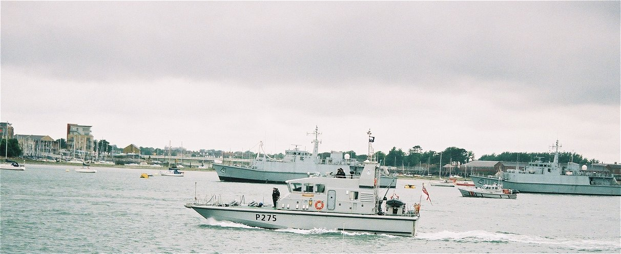 Tracker class coastal training patrol craft H.M.S. Raider at Portsmouth Navy Days 2005