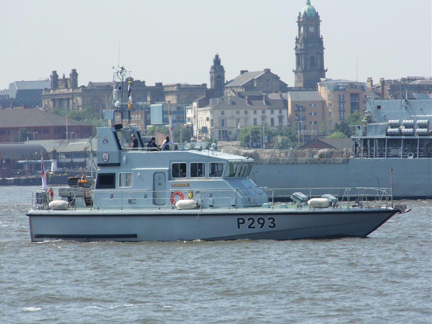Explorer class coastal training patrol craft H.M.S. Ranger at Liverpool, May 28th 2018
