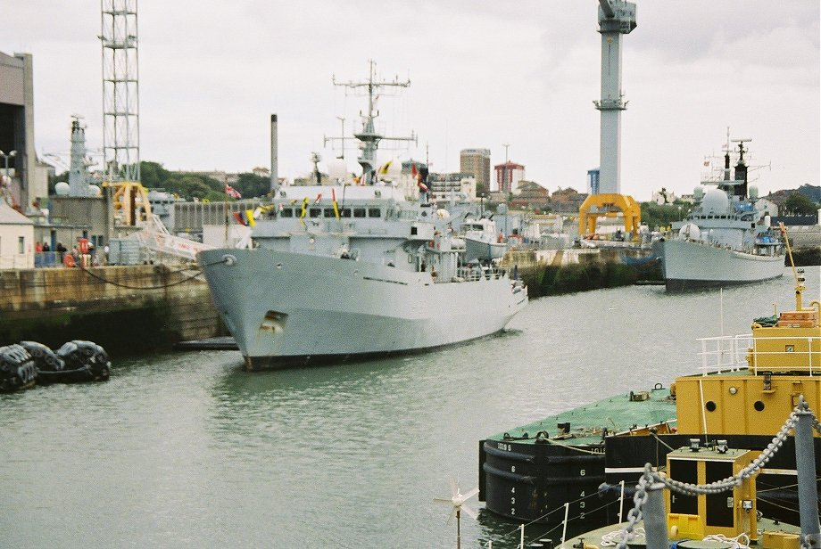 Survey ship H.M.S. Roebuck at Plymouth Navy Days 2006