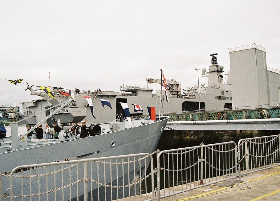 Survey ship H.M.S. Roebuck at Plymouth Navy Days, Saturday September 5th 2009