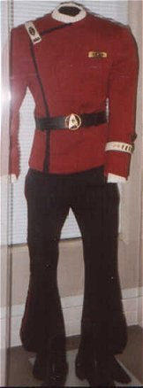 Captain Spock's uniform, Edinburgh Star Trek Exhibition, 1995.