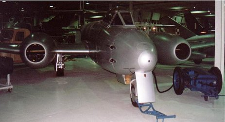 Gloster Meteor at Hendon Air Museum, March 2001.