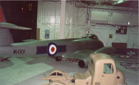 Gloster Meteor WH301 at Hendon Air Museum, March 2001.