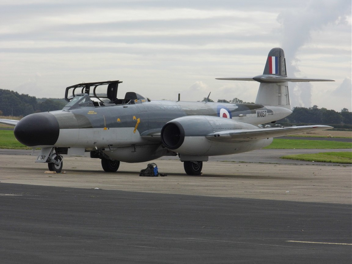 Gloster Meteor RAF Church Fenton 26th September 2015.