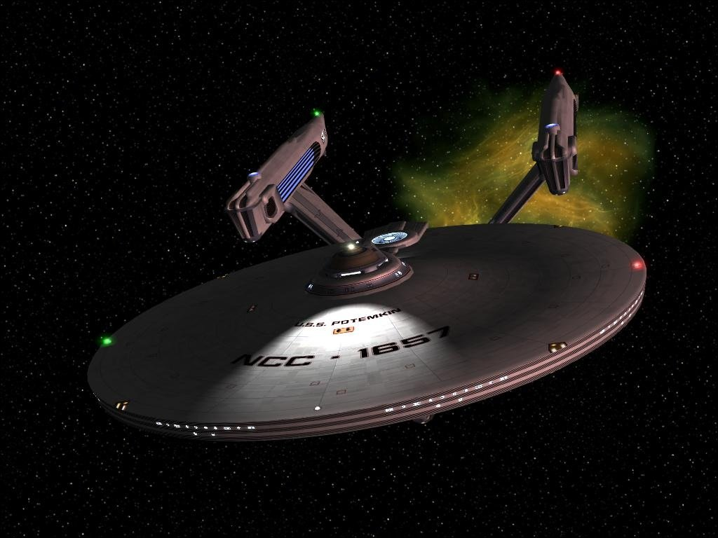 NCC 1657, USS Potemkin as she was in 2291.