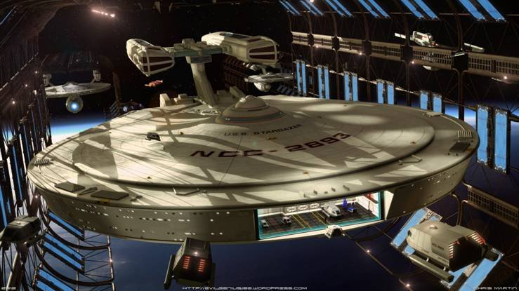 U.S.S. Stargazer - CGI by Chris Martin.