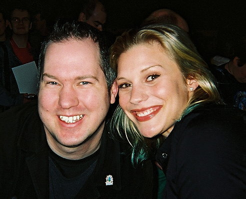 Ady with actress Katee Sackhoff - BSG's Starbuck - at GMEX Feb  11th 2006.