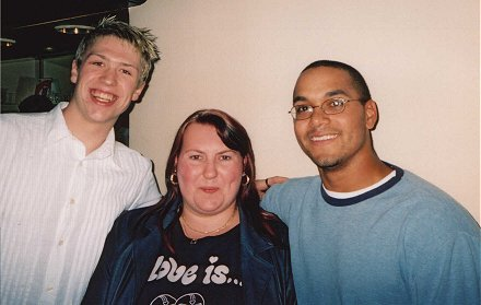 'Stiggy', Angie and Mike Peron #13 at the Sheffield Steelers talk at Grosvenor Hotel. Autumn 2003.