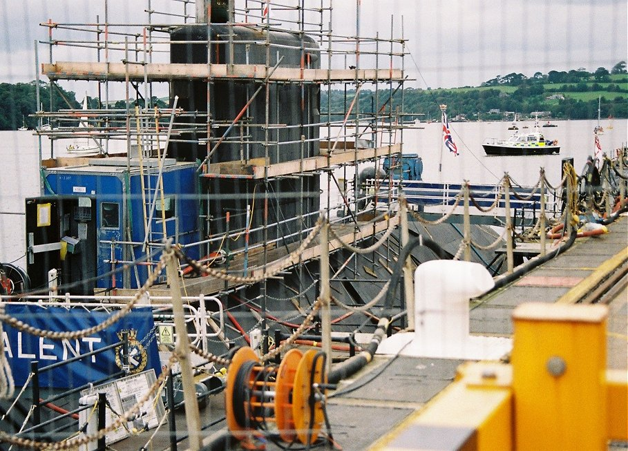 Trafalgar class submarine HMS Talent undergoing refit at Plymouth Navy Days, Saturday September 5th 2009