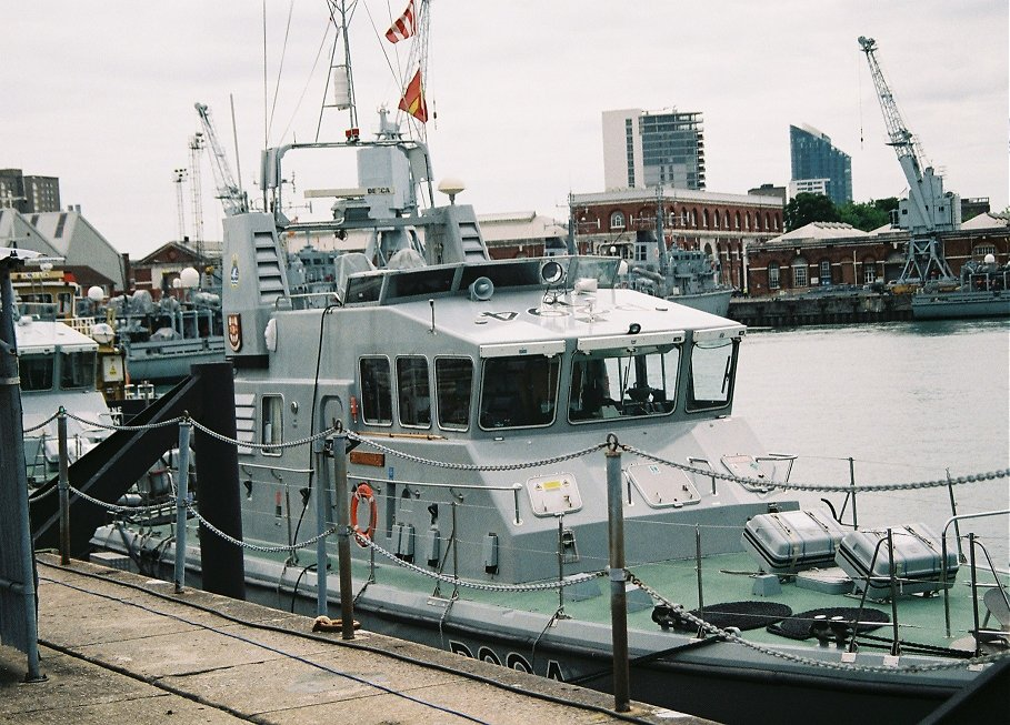 Archer class Coastal Training Patrol craft P2794 HMS Trumpeter, Portsmouth Navydays, 2010.