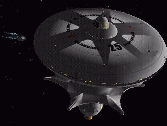 USS Xir'Tan with Starbase 25. Image by Andrew Brown.